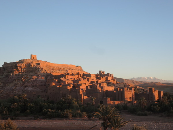 Ait Benhadou during the sunrise