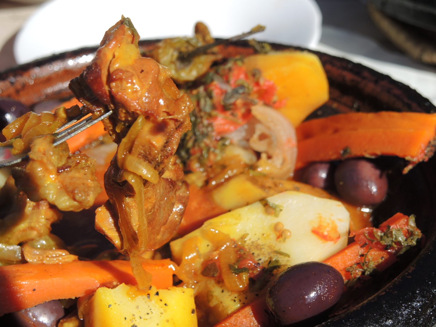 Mutton tagine in Atlas Mountains