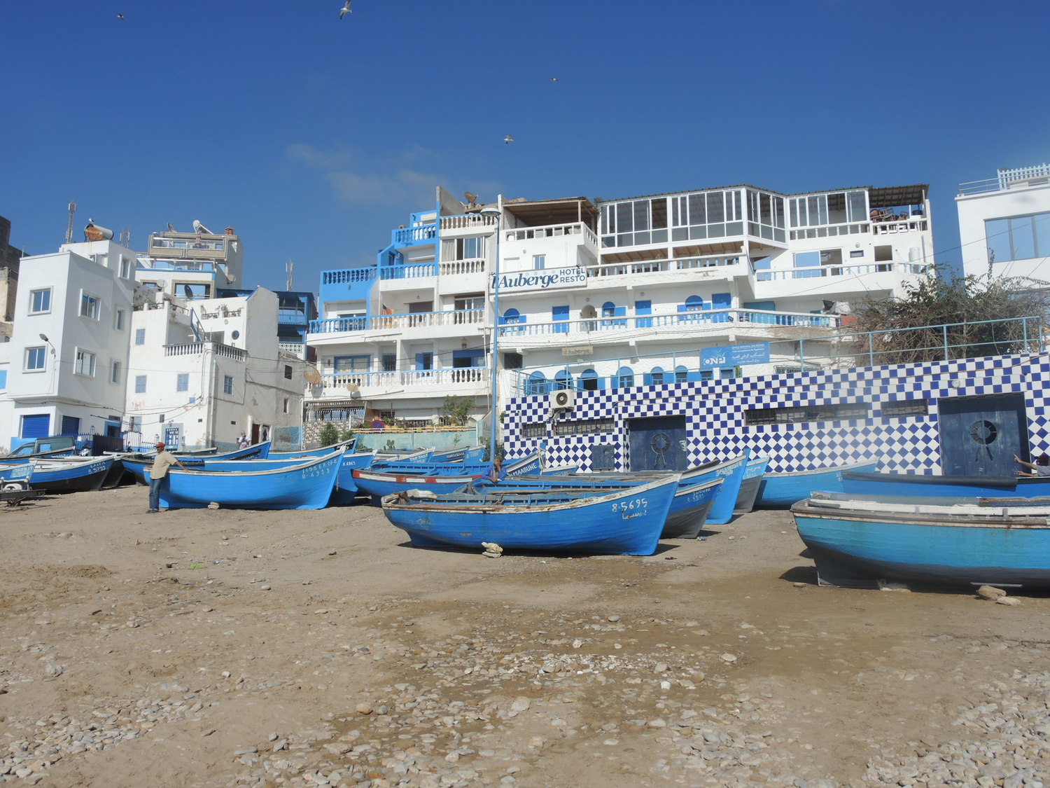 Boats in Taghazout