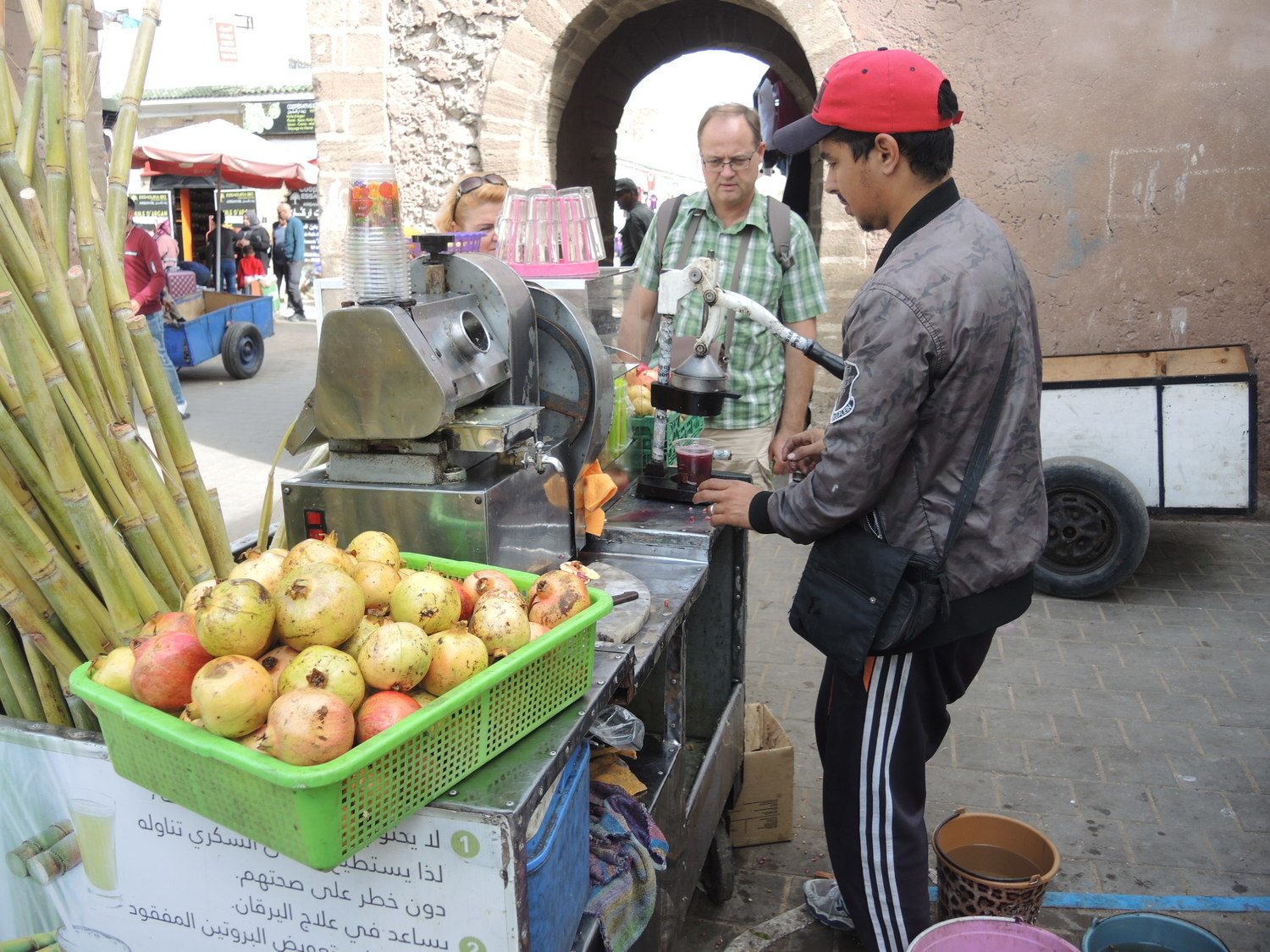Freshly squeezed pomengranate juice in Essaouira