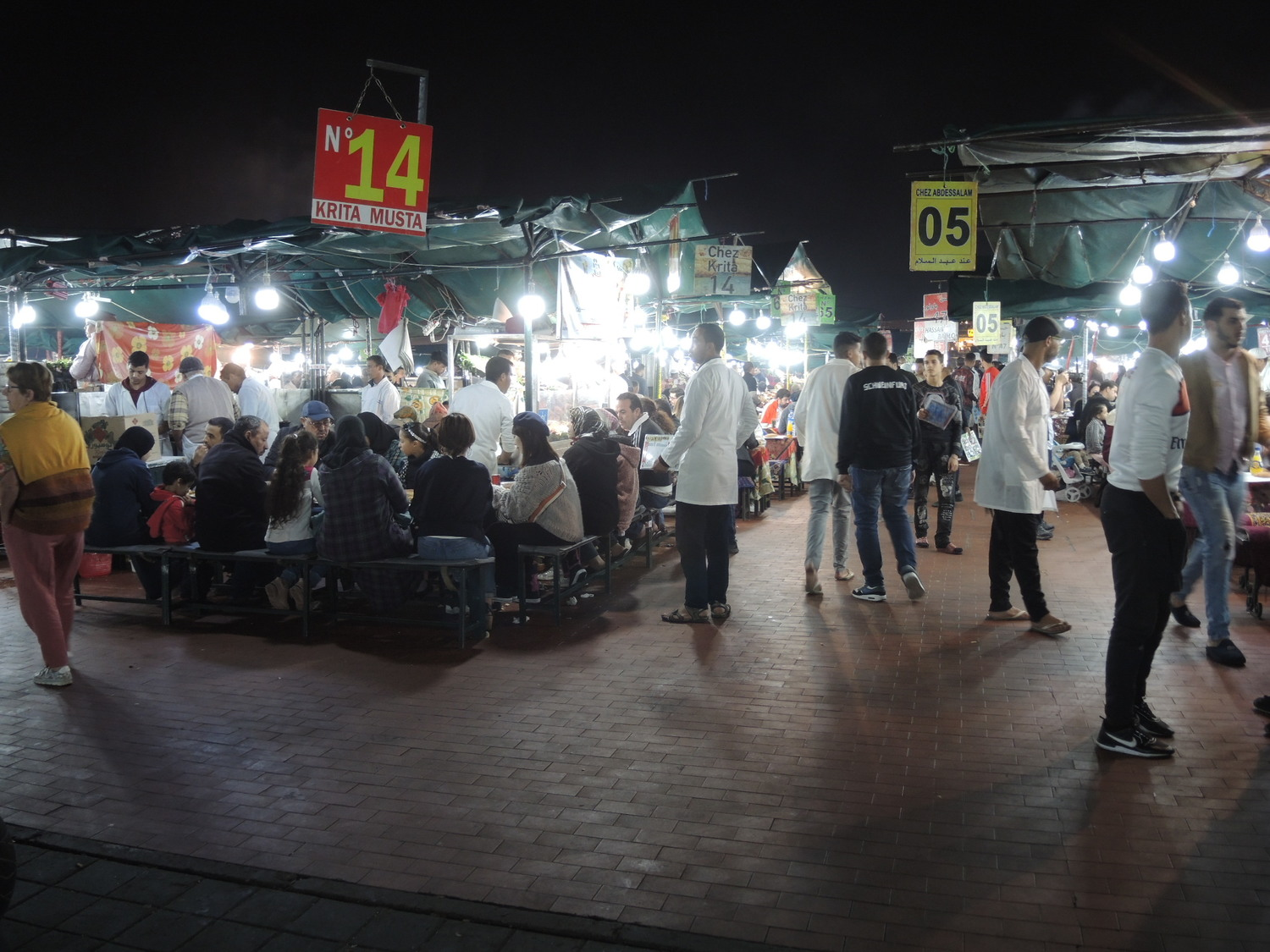 Jamaa El Fna market at night