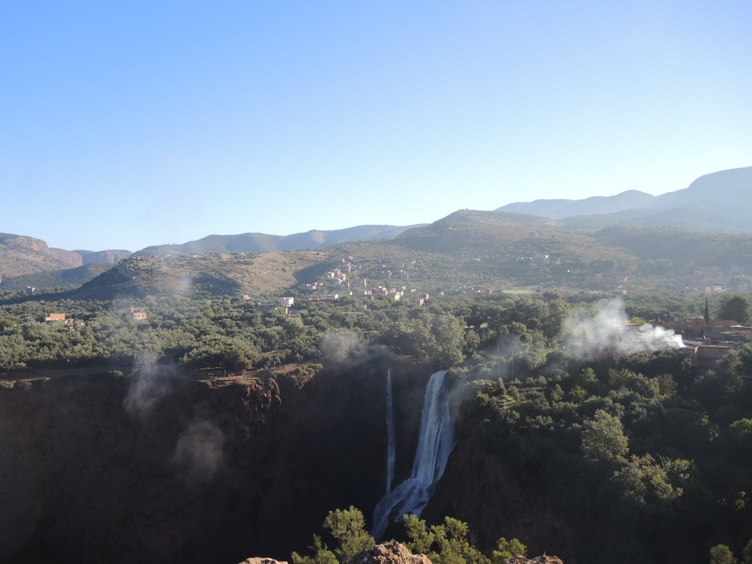 Ouzoud waterfalls in the morning