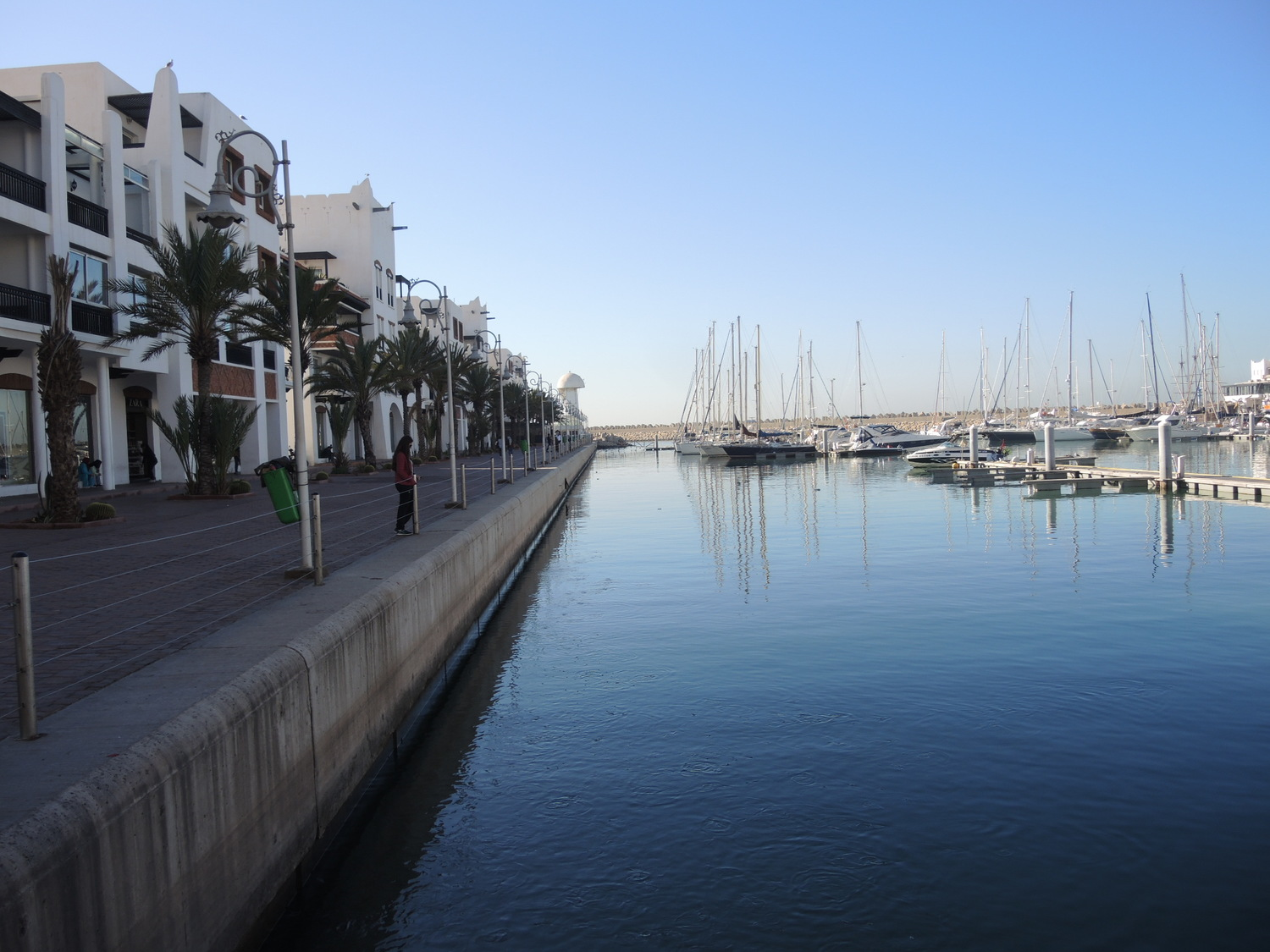 The coast of the yacht dock in Agadir
