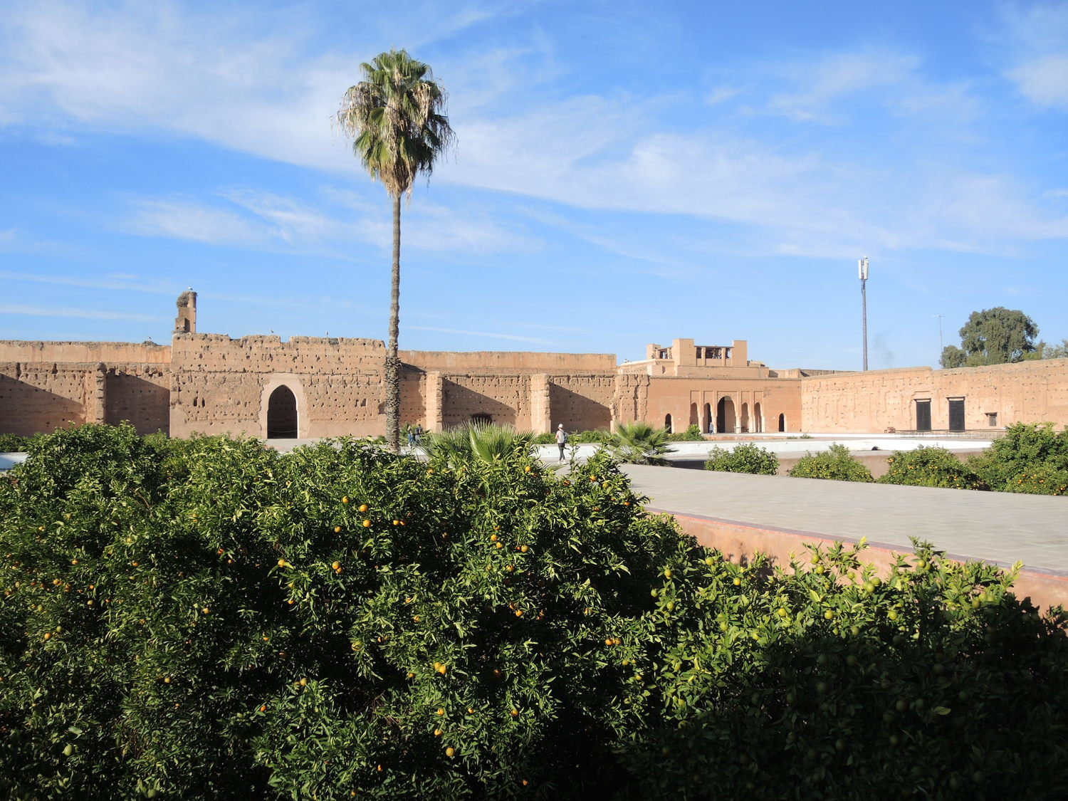 A view to El Badi palace in Marrakech
