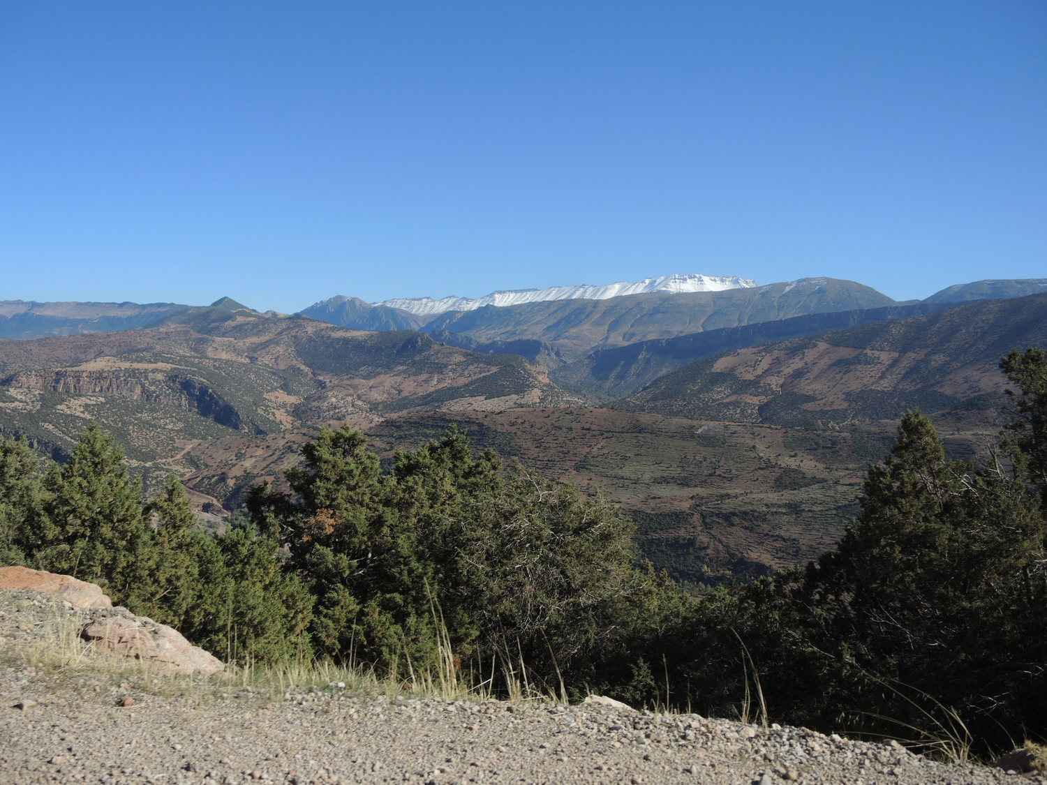 Atlas mountains with snowy tops in the distance