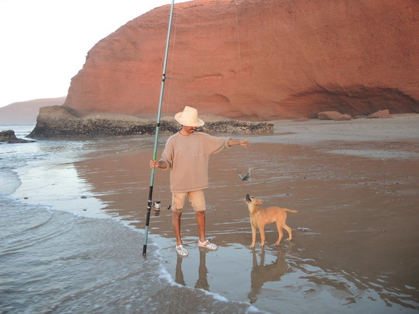 Fishing on the coast of the Atlantic
