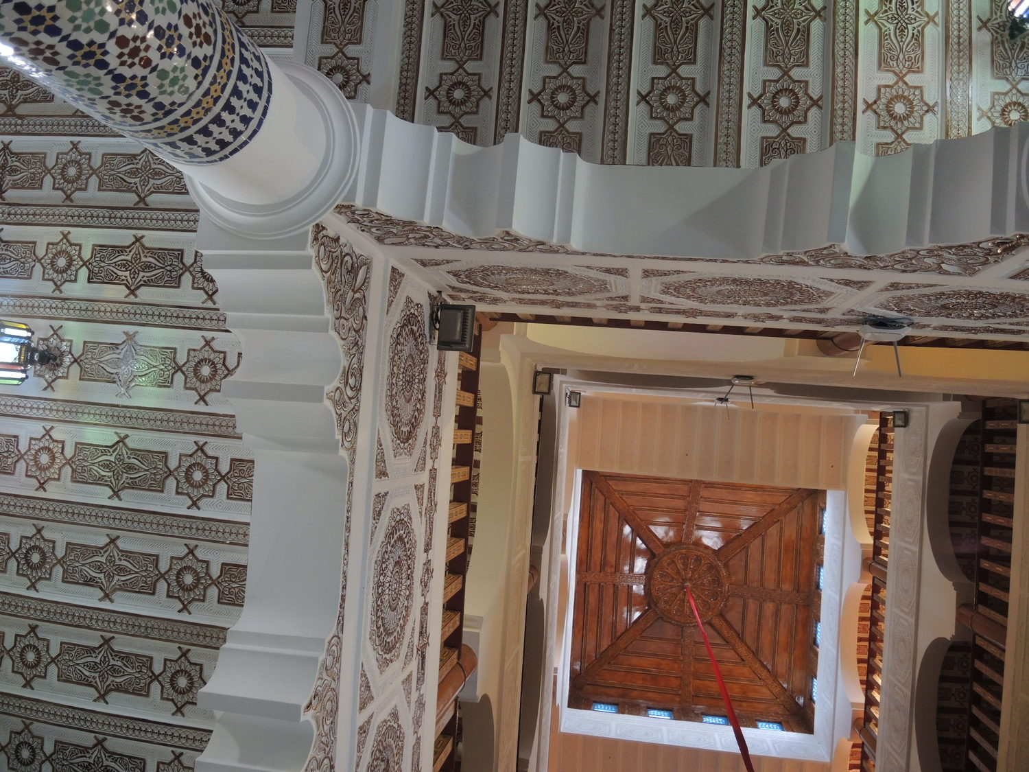 Inside of a riad