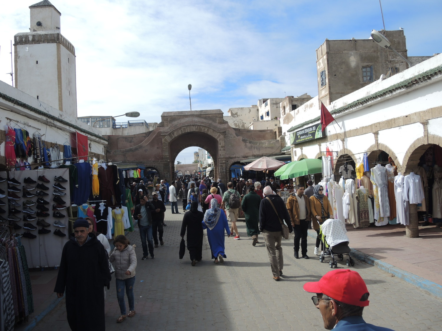 Mohamed Zerktauni avenue in Essaouira near the fish market