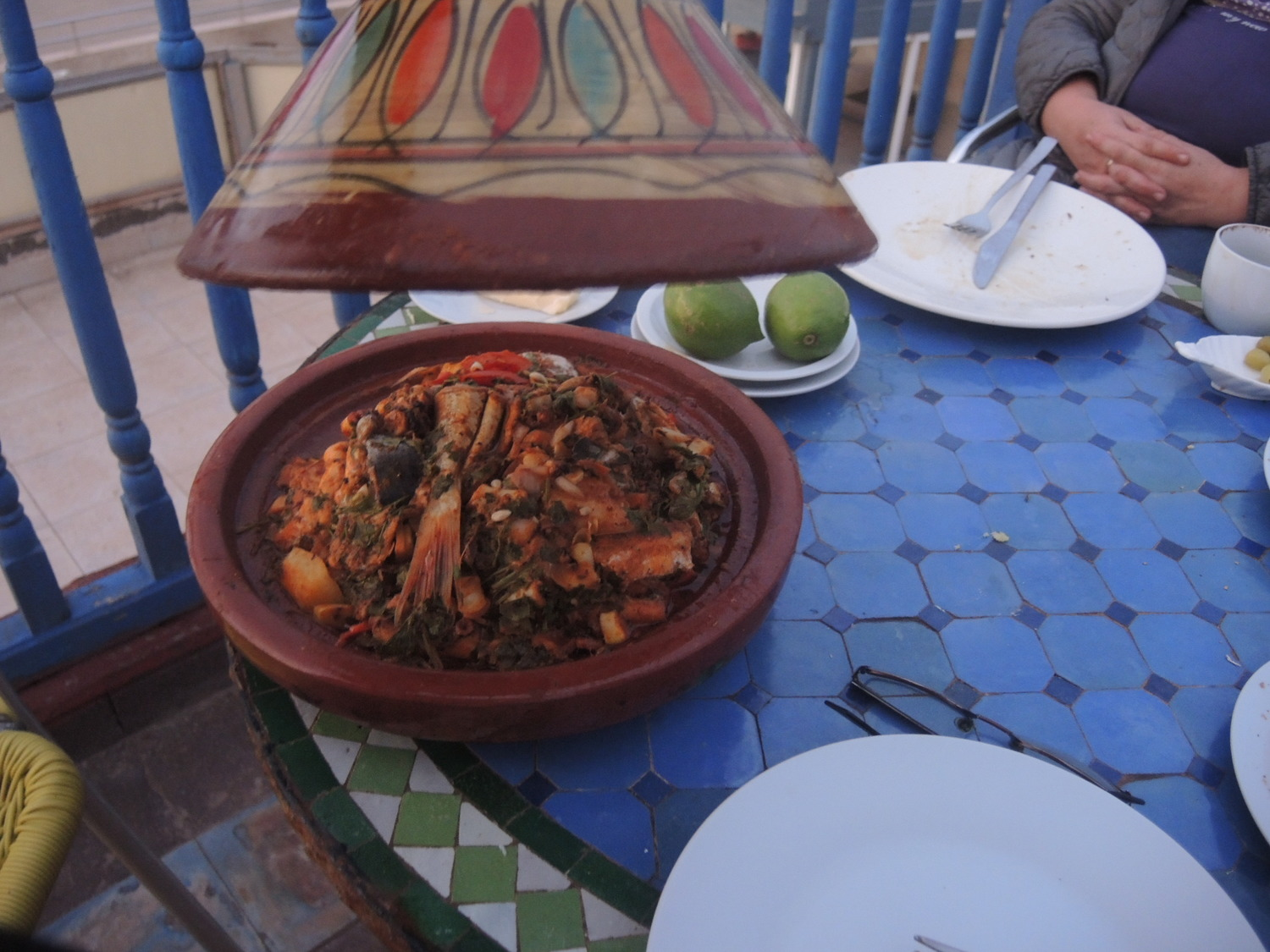 Fish tagine in Morocco