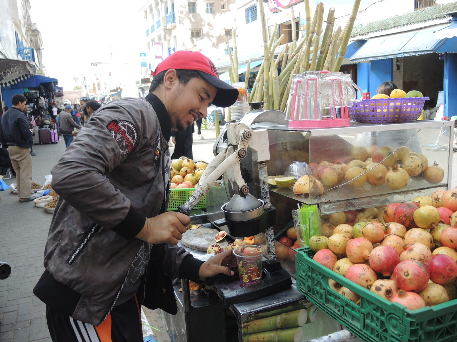 Fresh juice in Moroccan streets