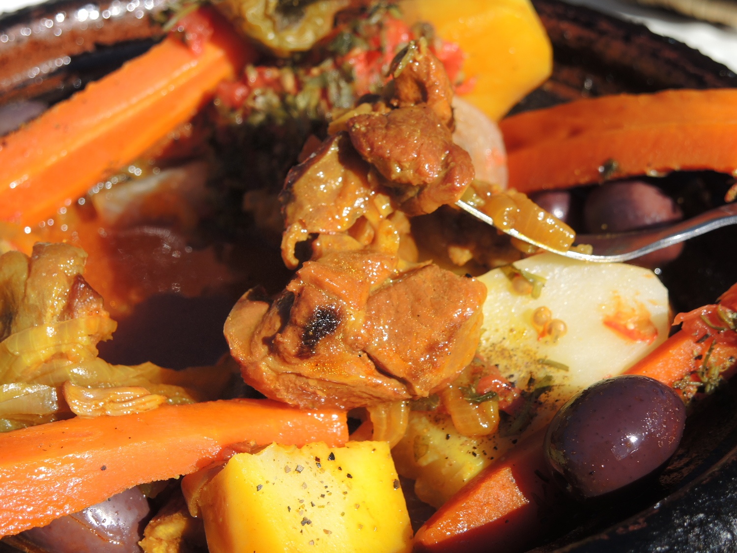 Lamb tagine in Atlas Mountains