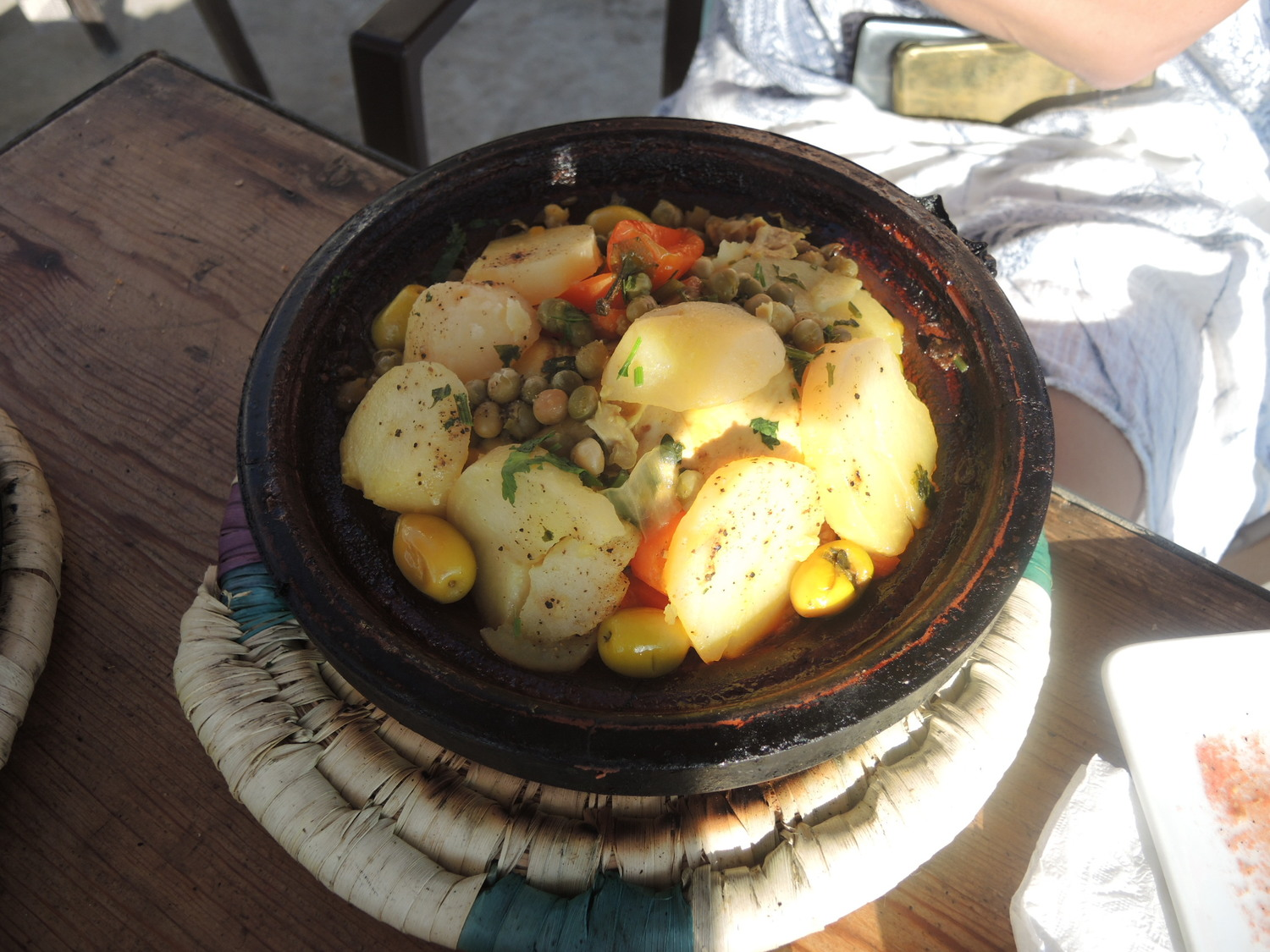 Vegetable tagine in Morocco