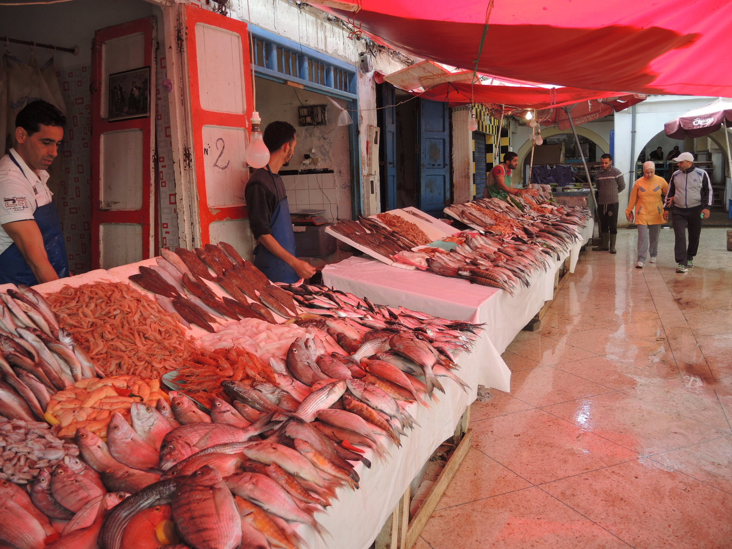 Fish market in Essaouira