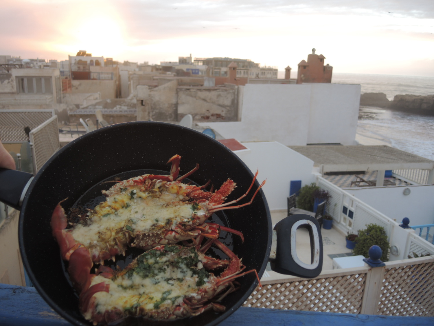 Langouste with a view