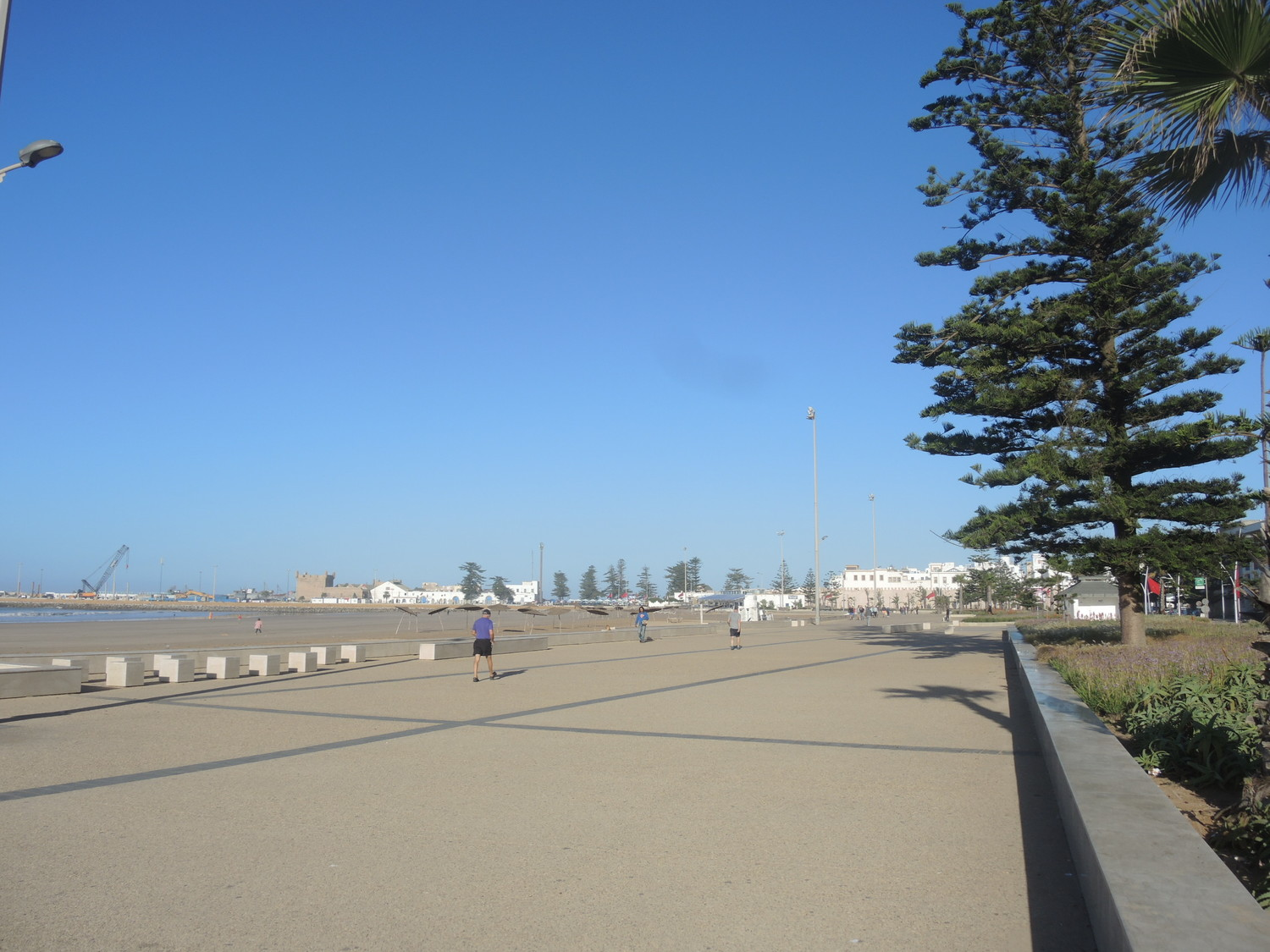 Promenade of Essaouira at day time