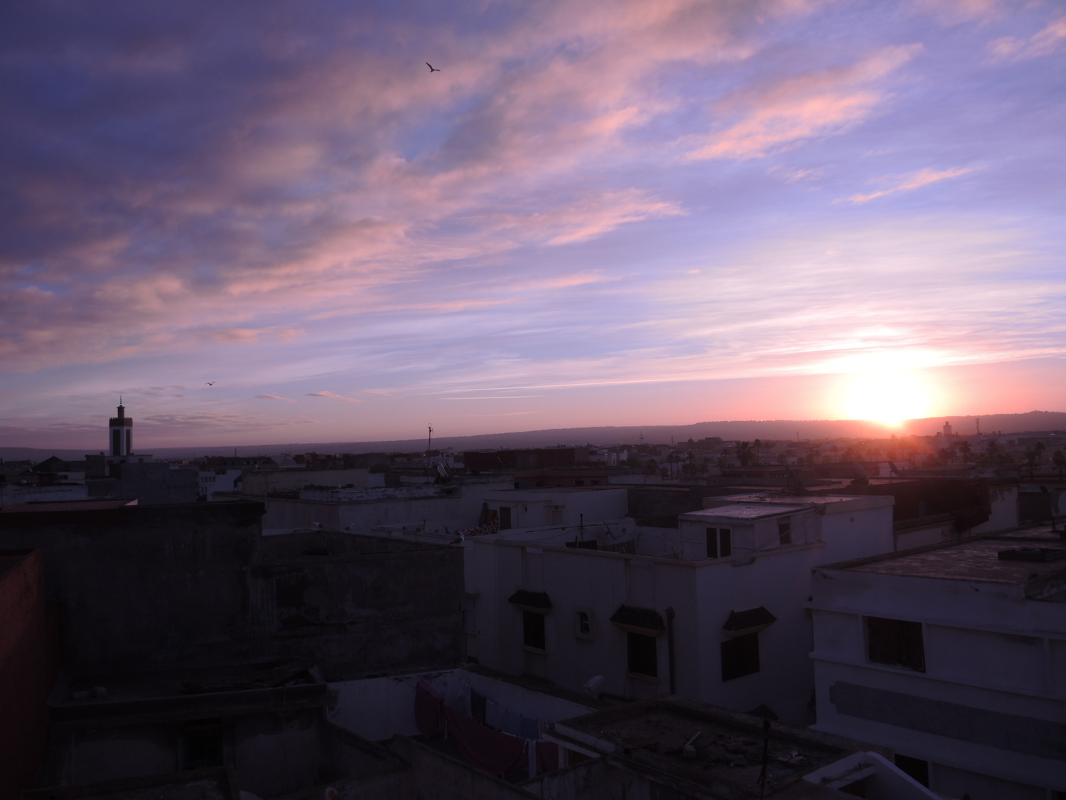 Sunrise above Essaouira