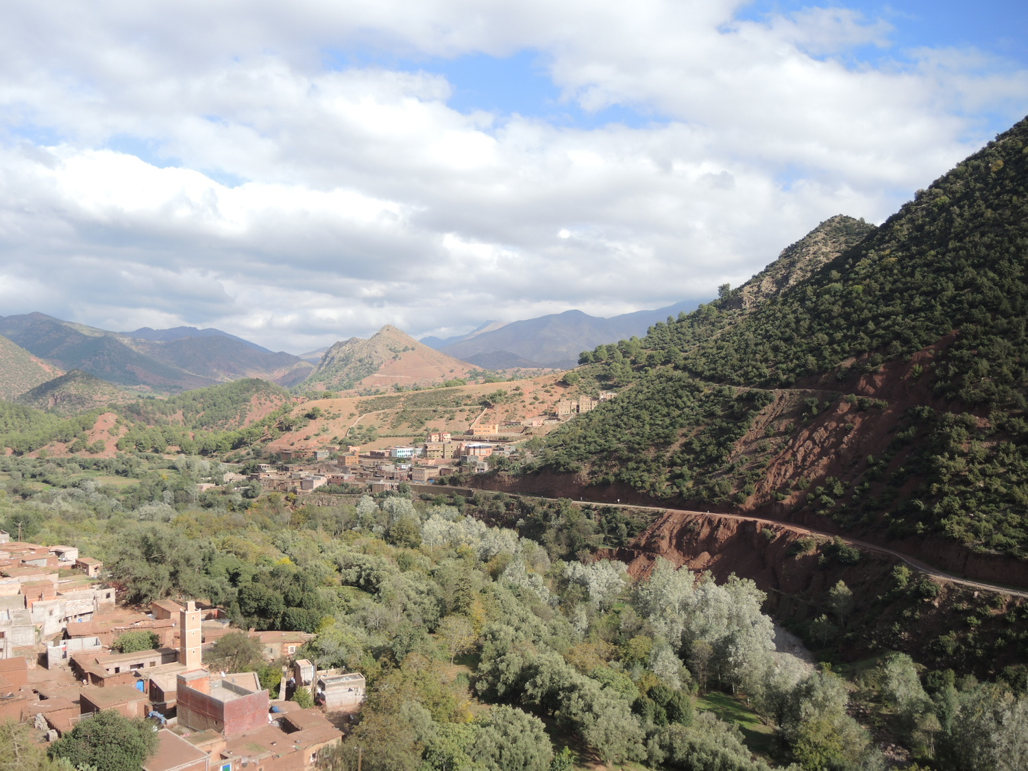 Green valleys on the northern side of the Atlas Mountains