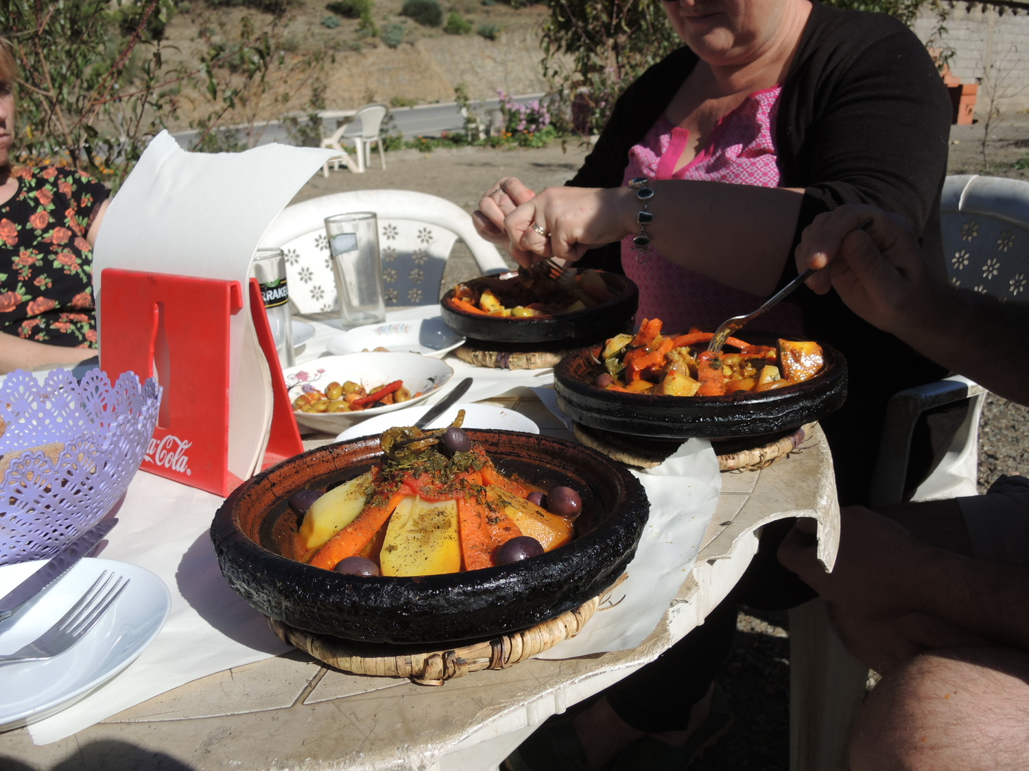 Lamb tagine in the Atlas Mountains