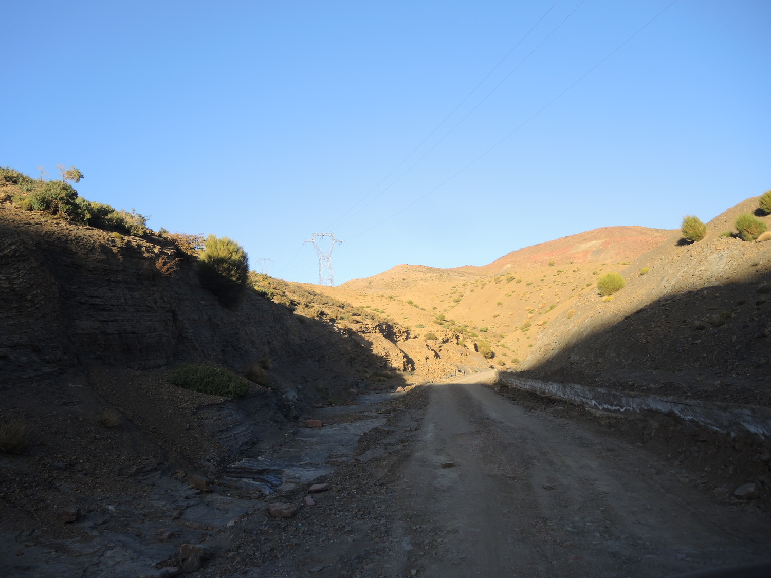 Roads in the Atlas Mountains