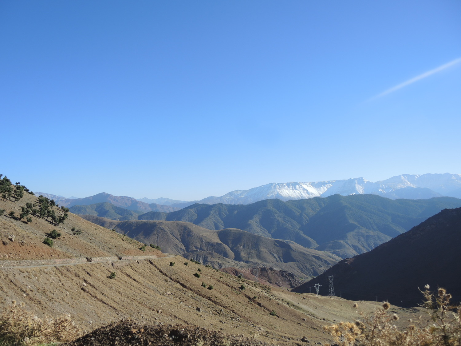 Snowy mountain tops in the Atlas Mountains