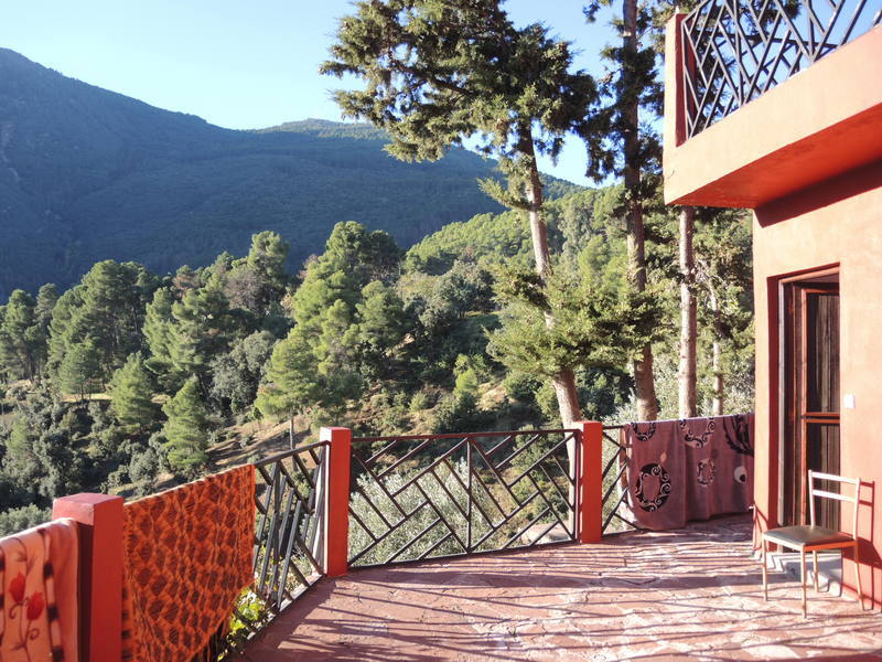 A hotel terrace in the Atlas Mountains