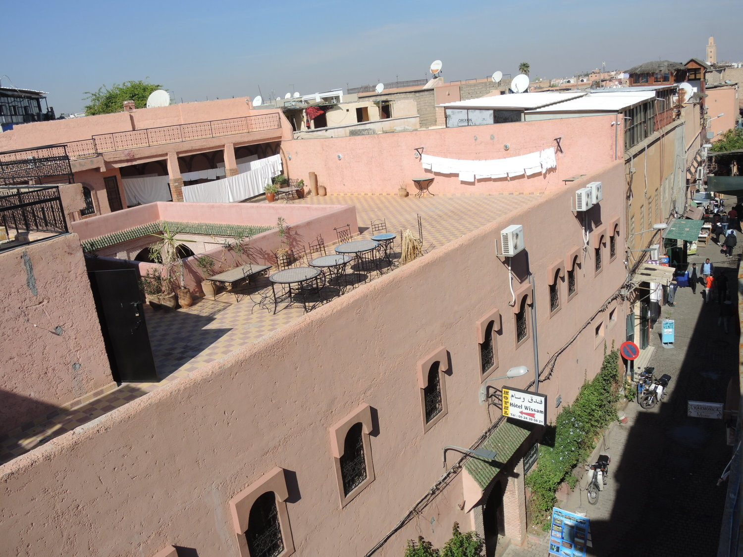 View from the rooftops of Marrakech