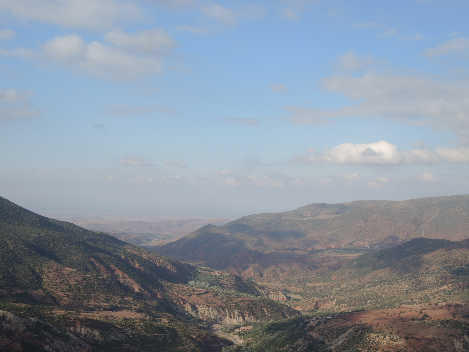 Valleys of the Atlas Mountains on the way to Marrakech