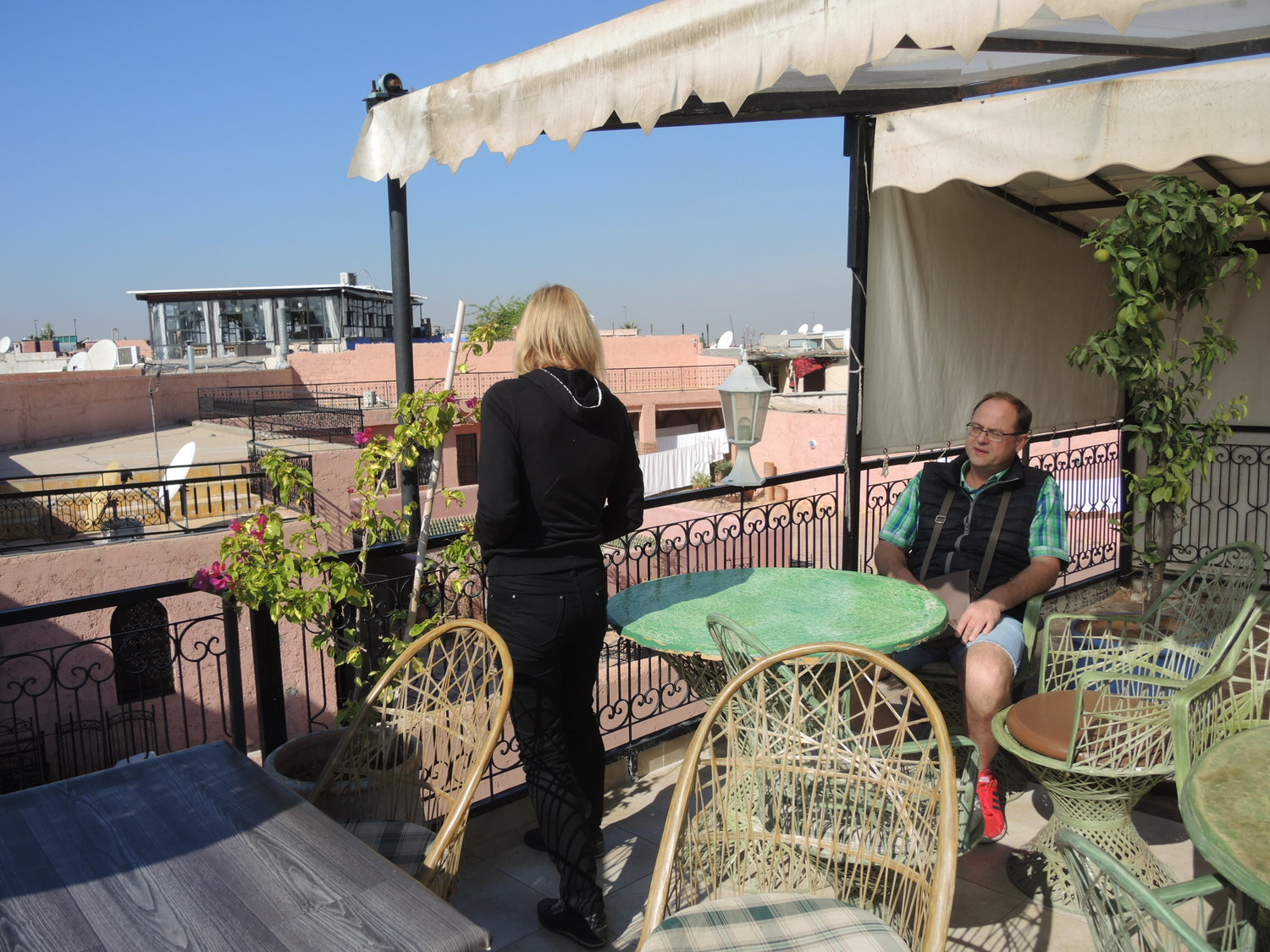 Morning on a terrace in Marrakech