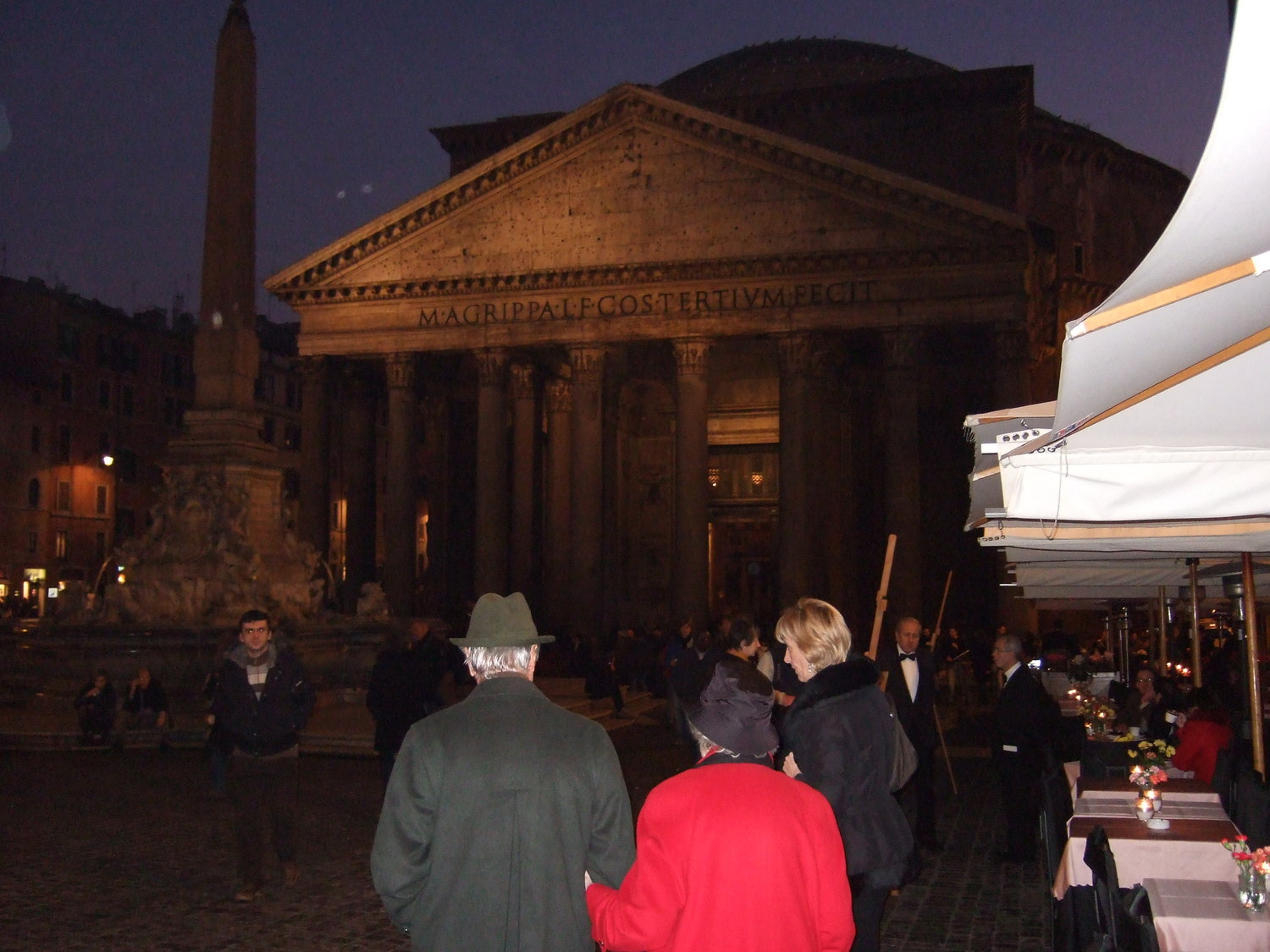 Rome at night. Pantheon