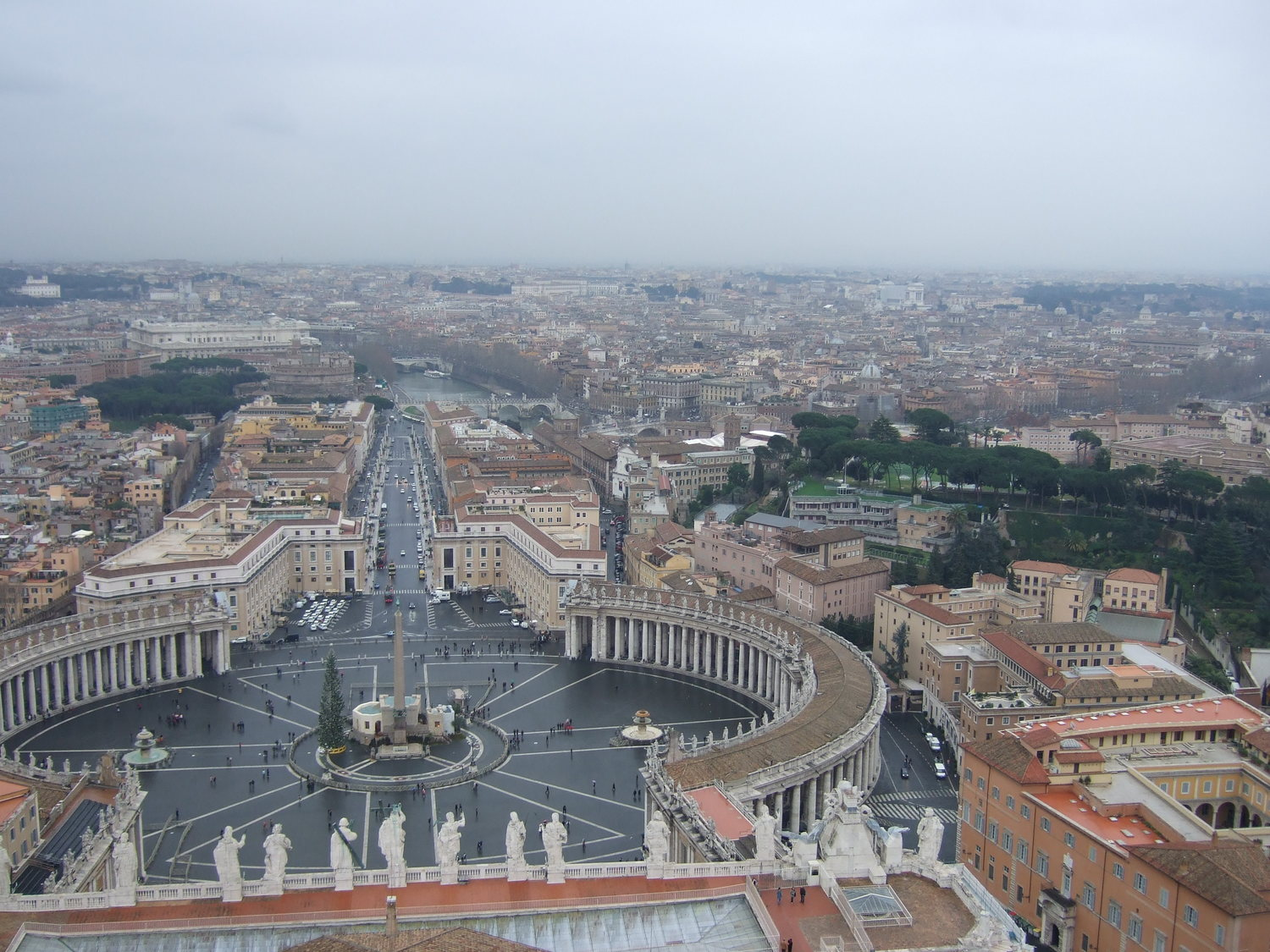 The panoramic view of Rome from the Dome.