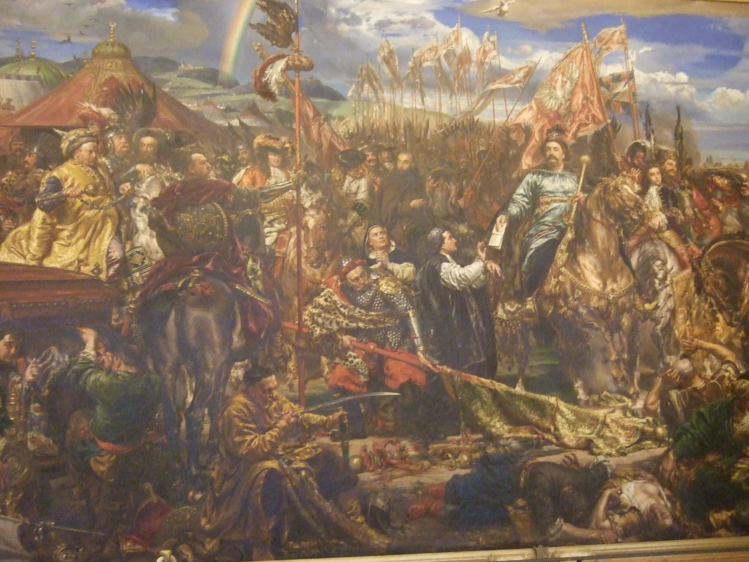 The Vatican City Museum. the painting of John III Sobieski victory against Turks in Vienna battle