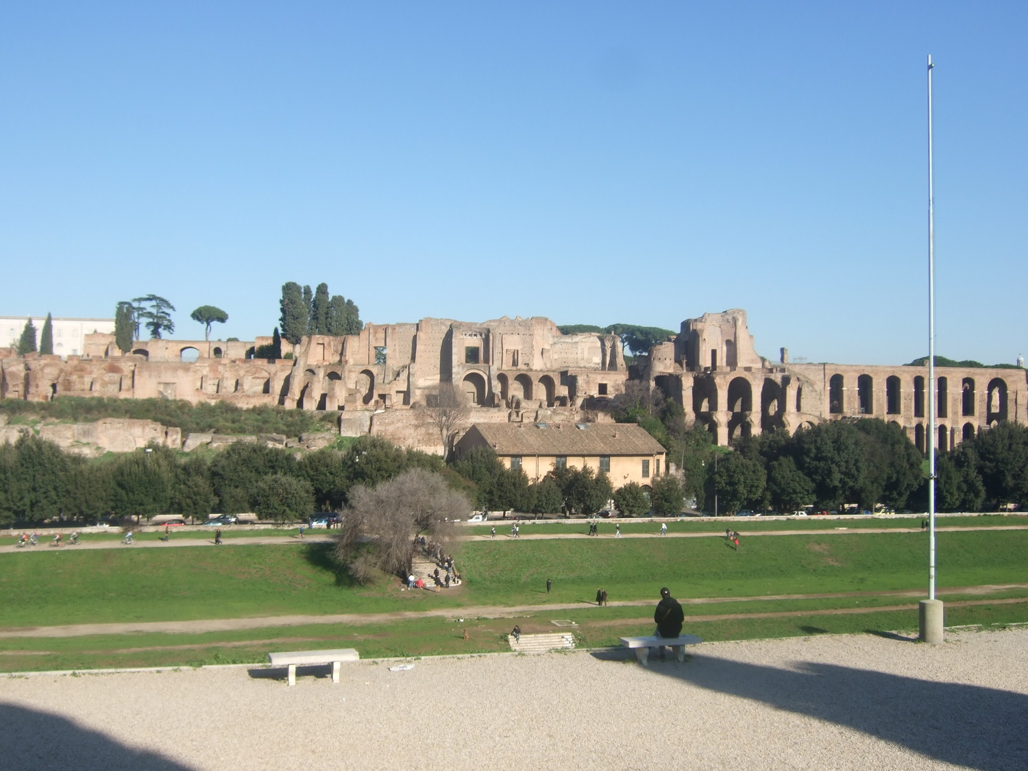 Tourist attractions. Palatine Hill with the Palace of Tiberius