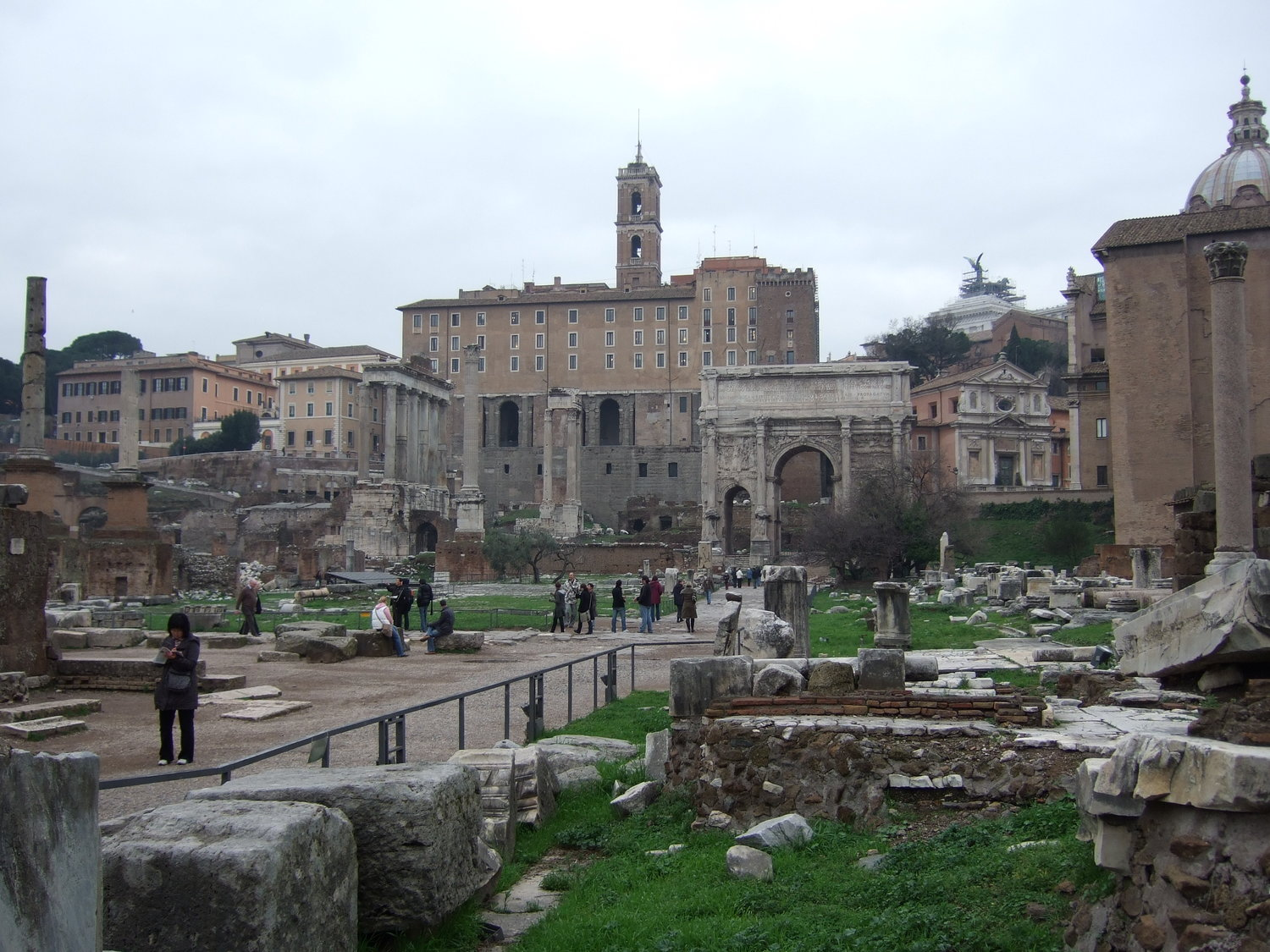 Tourist attractions. View to the Roman Forum