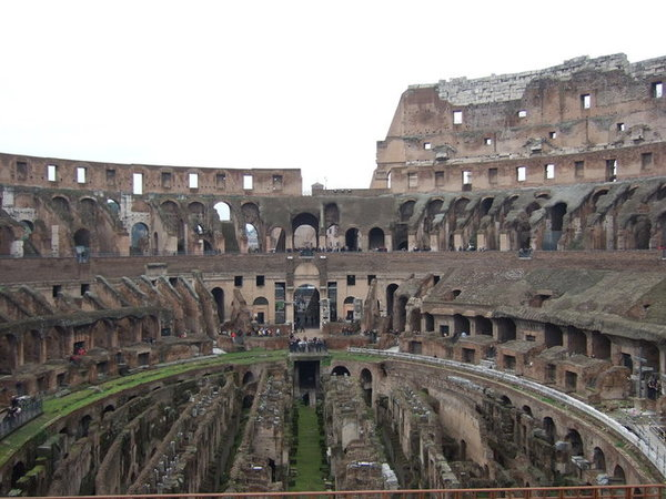 Tourist attractions. The second level view of Coliseum