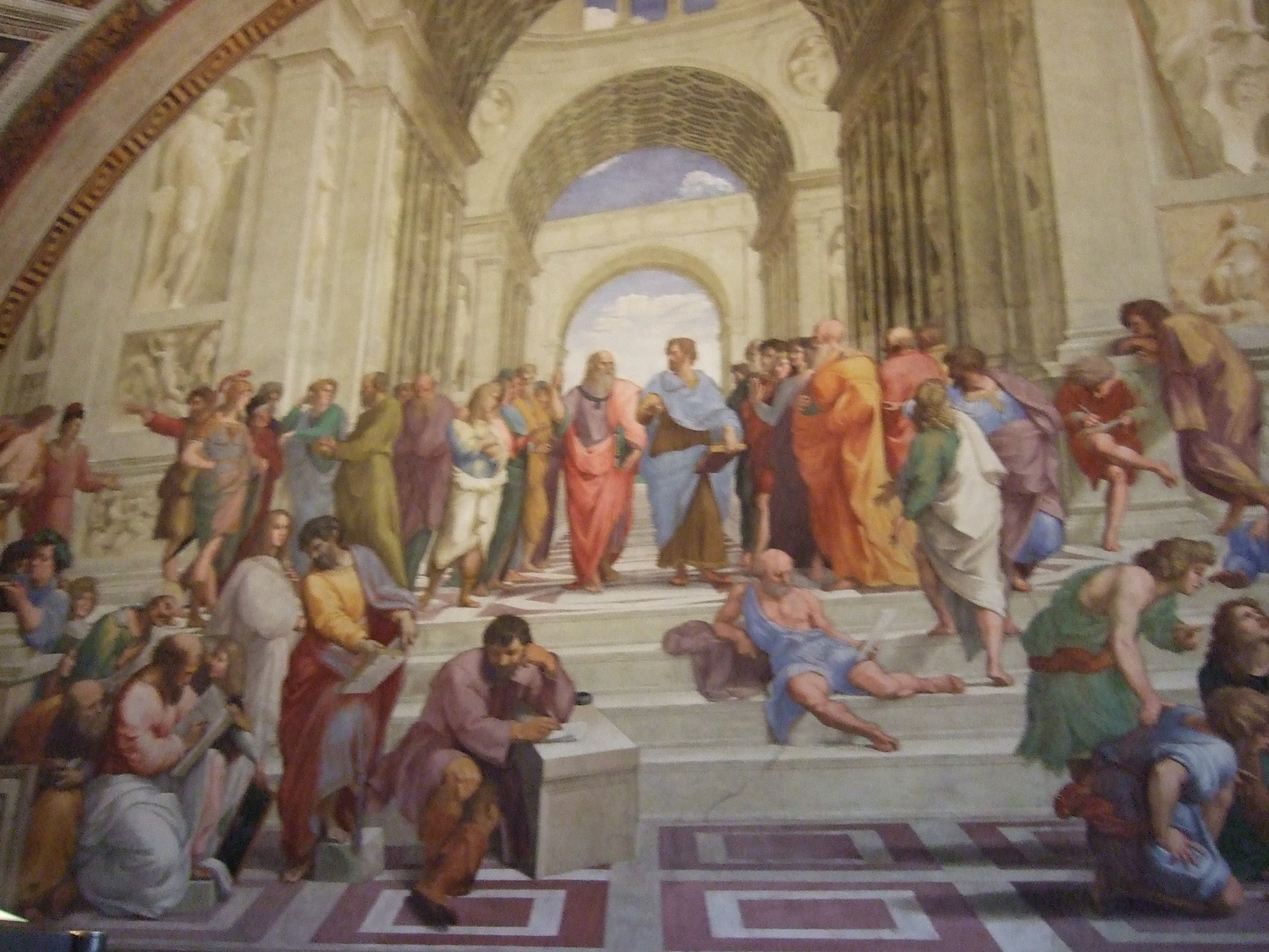 Museums in Rome. The Vatican City Museum: The School of Athens by Raphael