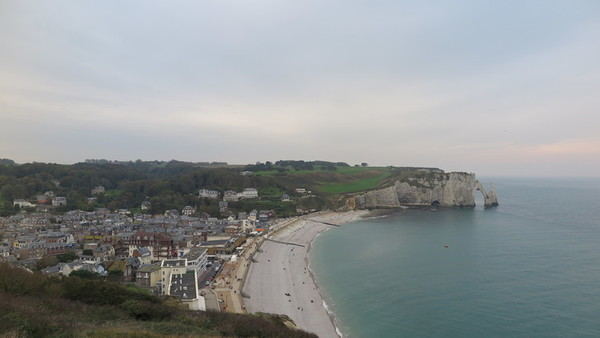 Beach in Etretat, Normandy