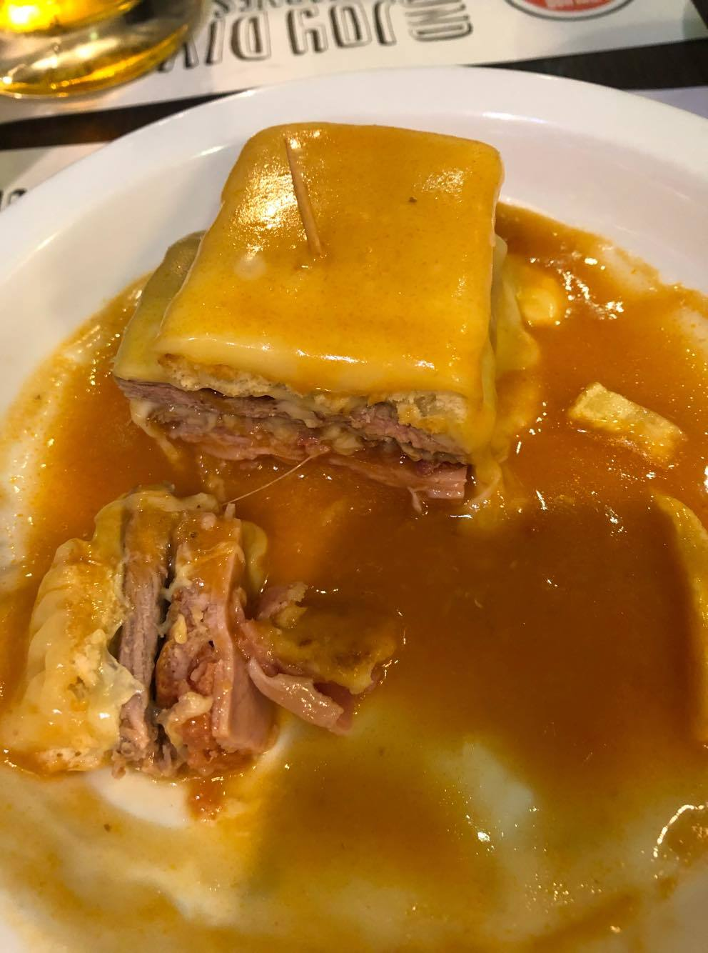 Thing to eat in Portugal. The famous Francesinha
