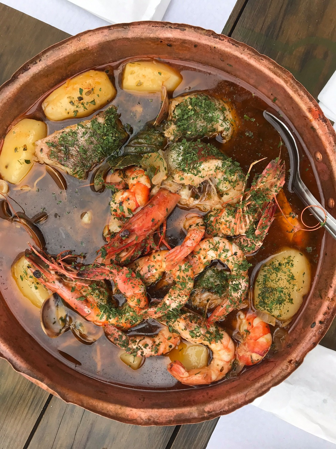 Thing to eat in Portugal. Arroz de Marisco stew of vegetables and sea food