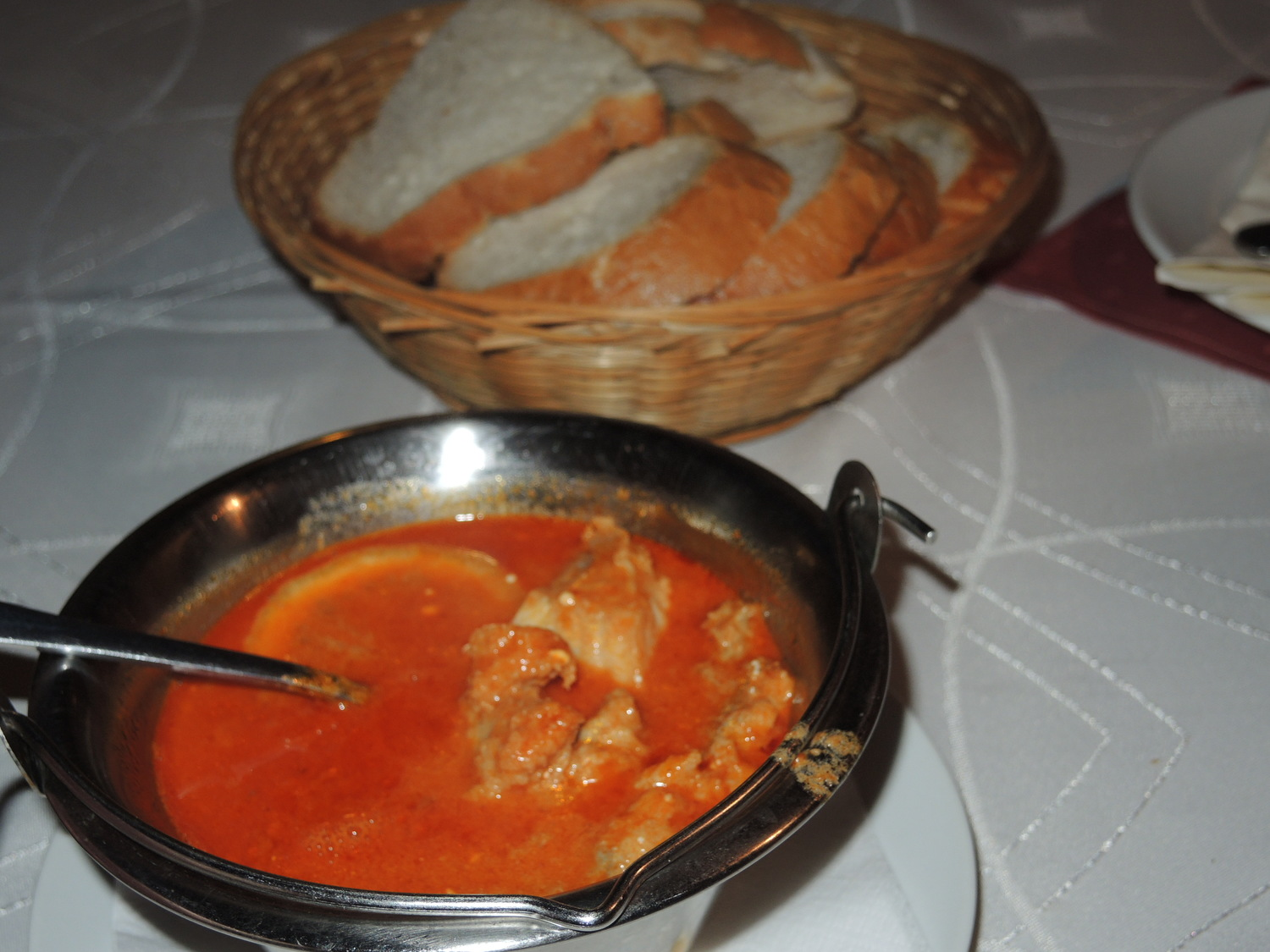 National Hungarian dishes. Fisherman's soup halászlé