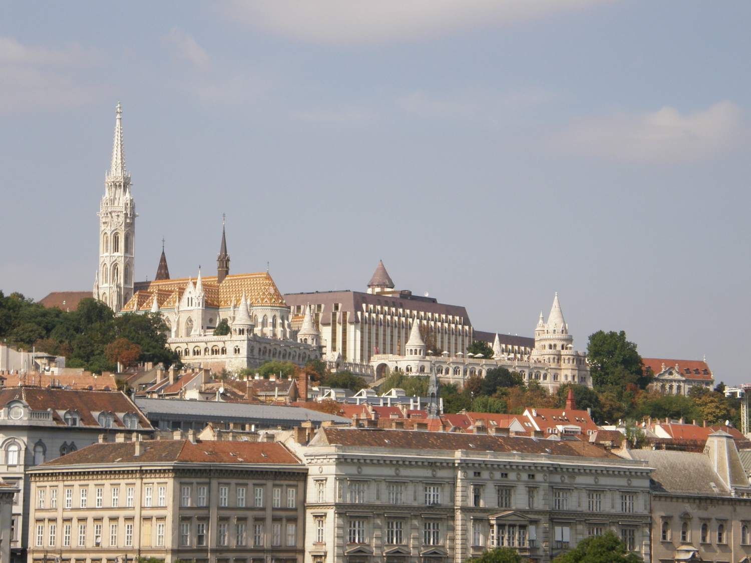 Trip to Hungary. Buda Castle and fishermen bastion
